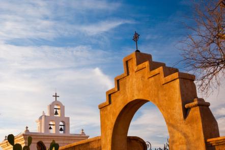 Church arch in Arizona